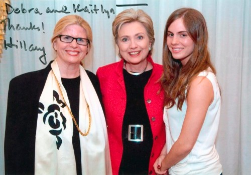 Debra and Kaitlyn Olson With Hillary Clinton