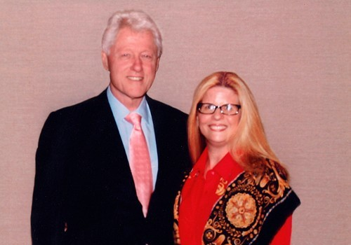 Debra Olson With President Bill Clinton