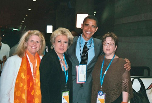Debra Olson With Barack Obama and Friends